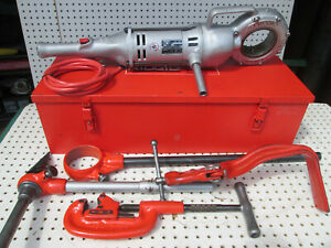 Ridgid 700 Pipe Threader W Vg Npsm 12r Heads And 775 Vice Set Exc Tool