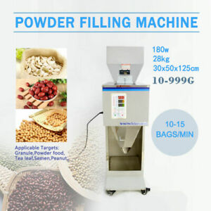Used 10 999g Auto Powder Racking filling Machine Weigh Filler For Tea seed grain