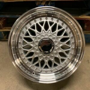 15 Rs Style Wheels Rims Silver Fits Honda Civic Prelude Insight Crx Accord