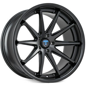 22 Rohana Rc10 Matte Black Concave Wheels For Jaguar Xj 2010 Present
