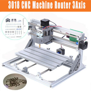 3018 Cnc Machine Router 3axis Engravingpvc Wood Carving Diy Milling Kit Printer