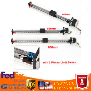 600mm Linear Stage Actuator With Nema23 Stepper Motor For Cnc Router Ball Screw