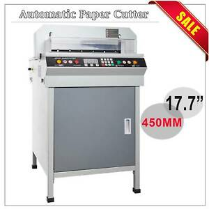 Automatic Adjustable 17 7 Automatic Paper Cutter 450mm Cutting Machine Updated