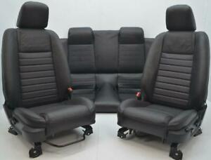 2005 2006 2007 2008 Ford Mustang Convertible Oem Front Rear Leather Seats