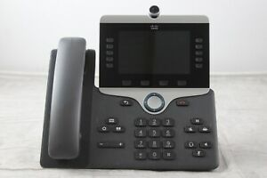 Cisco Cp 8865 k9 Uc Voip Video Phone W Stand Handset factory Reset