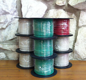 500 Ft Tfn tewn Wire 16 Awg Solid 600 Volt Made In Usa Pick One Color