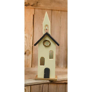 Primitive Tall Lit Church Saltbox House Country Farmhouse Rustic Wood Village