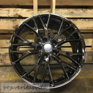 New C7 Z06 Style Black Chrome Wheels Rims 19 20 Set Fits Base C7 Corvette