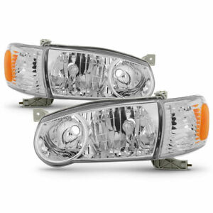 For Ty Corolla 2001 2002 Headlights Corner Lights Right Left Set 4 Pieces
