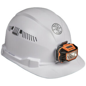 Klein Tools 60113 Hard Hat Vented Cap Style With Headlamp