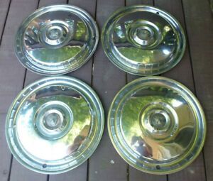 55 56 Ford Hub Caps 15 Set Of 4 Wheel Covers Hubcaps 1955 1956 Vintage Hubcaps
