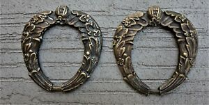 Pair Of French Bronze Art Nouveau Drawer Pulls Ca 1905 Marked Am Perfect