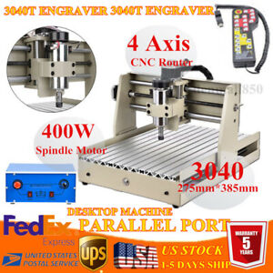3 Axis 3040z Cnc Router Engraver Engraving Milling Drill Machine 400w handwheel