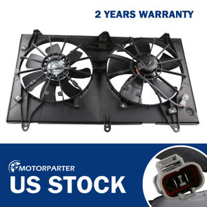 Radiator Cooling Fan Assy For 03 07 Honda Accord Ex Lx Dx 2 4l L4 W Motor