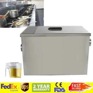 Fda Grease Trap Interceptor Set For Restaurant Kitchen Wastewater Removable