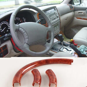 Abs Wood Grain Steering Wheel Cover Fit For Toyota Land Cruiser Lc100 1998 2007