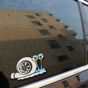 Funny Turbo Snail Decal Car Styling Bumper Window Wall Stickers Home Decor