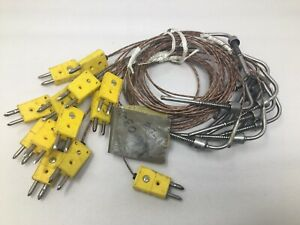Lot Of 13 Cooperheat Brand Thermocouples