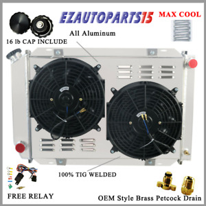 3 Row Radiator Shroud Fan For 1979 1993 1992 1991 Ford Mustang Gt Lx 5 0l V8 Gas