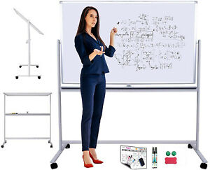 Mobile Magnetic Whiteboard Or Dry Erase Board Rolling Whiteboard On Wheels X