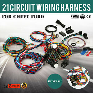 21 Circuit Wiring Harness Chevy Universal Extra For Ford Install