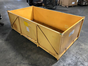 Metal Stackable Warehouse Tote Shipping Crate Storage Container 88 x46 5 x25 5