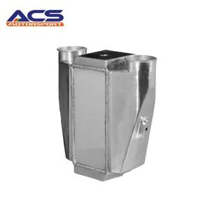 Universal Polished Water To Air Intercooler 2 5 Inlet Outlet 300 500hp