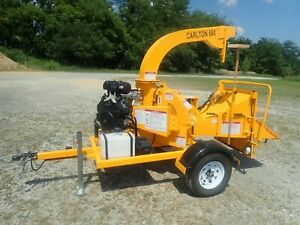 New 2019 Carlton 660 Tow Behind 6 Wood Chipper 27 Hp Kohler Command Gas Engine