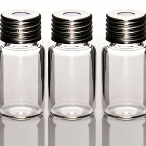 Glass Clear Round Bottom Headspace Vial Screw Top 10ml Capacity case Of 100