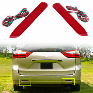 2x Rear Bumper Reflector Fog Lights Warn Lights For Toyota Matrix 2011 2012 2013