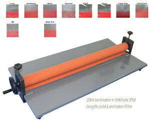 39 Cold Laminating Machine Laminator 1yd 10kinds Cold Laminating Film