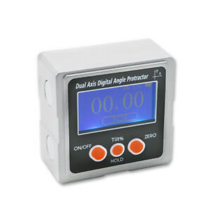 Metal Dual Axis Bevel Box With 3 side Magnets Digital Protractor Inclinometer