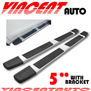 For 09 17 Chevy Traverse gmc Acadia 5 Running Board Side Step Nerf Bar Chrome S