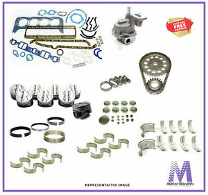 Mercruiser Gm 4 3l V6 Marine Engine Kit Pistons rings bearings gaskets 1987 93