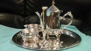 International Silver Company 5 Piece Silverplated Tea Set With Tray