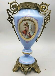 19th Century French Gilt Bronze Mounted Porcelain Urn