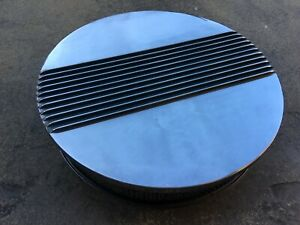 Polished Aluminum 14 Center Finned Retro Air Cleaner Chevy Ford Mopar Hot Rod