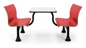 30 X 48 Retro Restaurant Red Bench W Stainless Steel Table Top