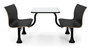30 X 48 retro Restaurant Black Bench W stainless Steel Table Top