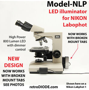 Led Retrofit Kit With Dimmer Control For Older Nikon Labophot 1 Microscopes