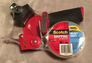 New 2 Pack Scotch 3850st Heavy Duty Shipping Packaging Tape And Dispenser 54 Yds