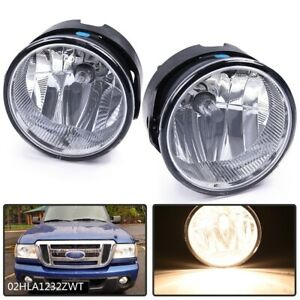 Pair Fog Lights For 2007 2014 Ford Expedition 2008 2011 Ranger Bumper Lamps