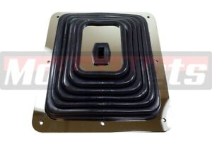 Large Rubber Shifter Boot W Chrome Plate 7 3 4 X 8 3 4 Hurst B
