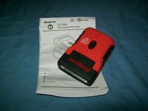 New Snap On 18 V Cordless Rechargeable Compact Flashlight Ctl7850o Unused