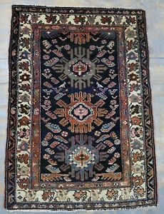 Ca 1900 Wonderfull Old Antique Malayer Rug 4 6x3 3 Ft