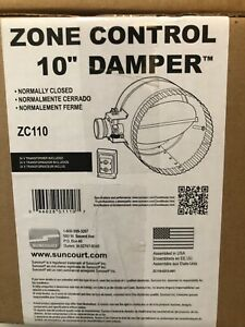 New Suncourt 10 Zc110 Hvac Zone Control Damper Normally Closed W Power Supply