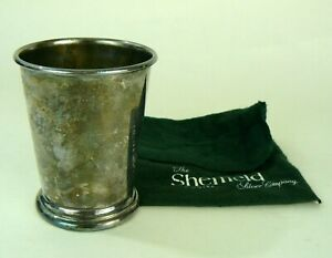 Sheffield Silver Co Silver Plate Mint Julep Cup Tarnished No Markings W Pouch