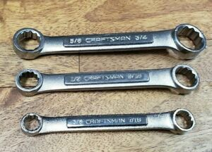 Vintage Craftsman Vv Box End 3 Wrench Set 12 Point Sae 3 8 Through 3 4 Lot