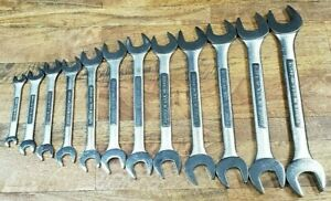 Classic 12 Pc Craftsman Metric Open End Wrench Lot Vv Series 10mm 32mm
