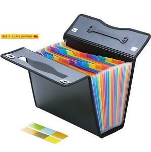 Expanding File Folders 24 Pockets Accordian File Organizer Letter And A4 Siz